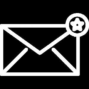 mail med stjerne ikon ads on online markedsføring